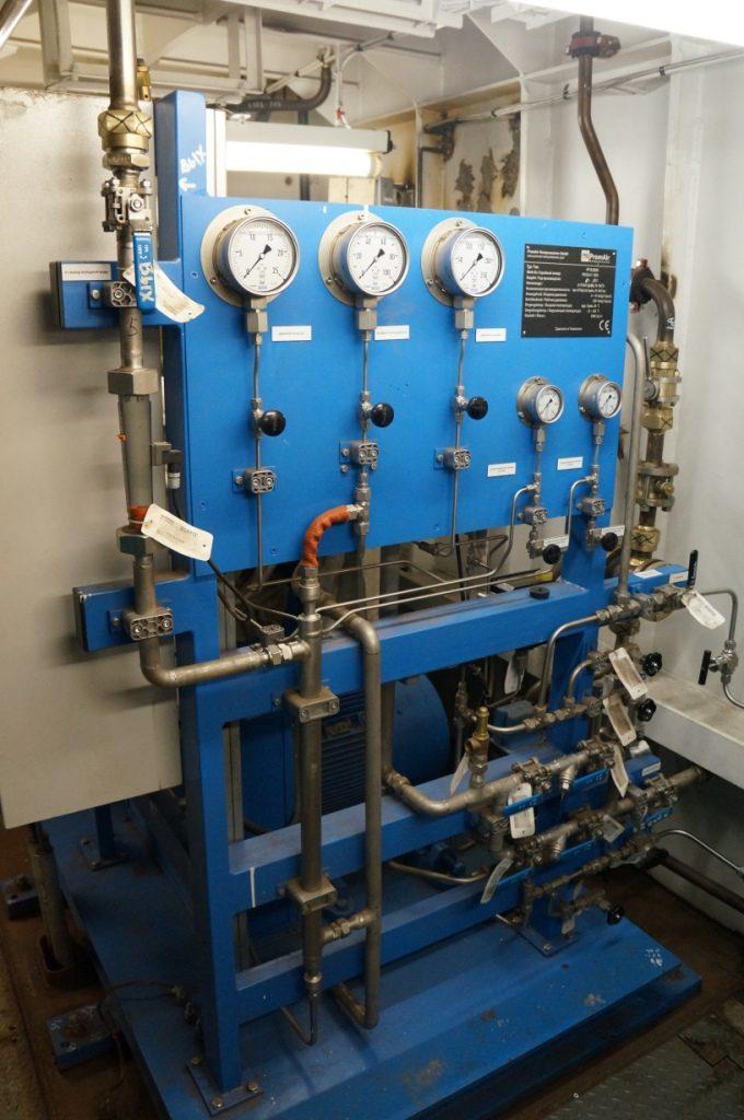 Мембранный компрессор на поисково-спасательном судне