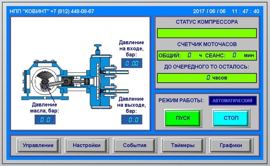 Панель управления Ковинт КСВД-М